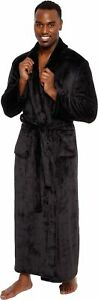 Ross Michaels Men's Big and Tall Full Length Long Bathrobe House Coat Pajamas