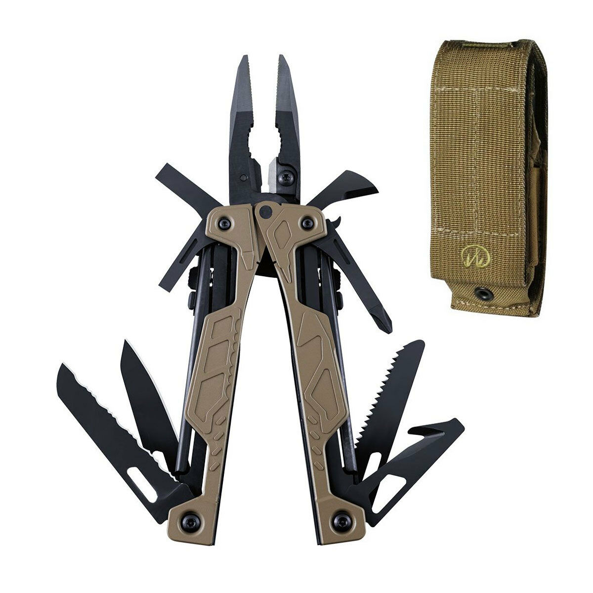 Leatherman 831626 OHT Coyote Tan  Stainless Steel Multi-Tool Brown Molle Sheath  best service