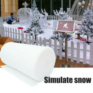 SOFT SNOW BLANKET CHRISTMAS FAKE  Nativity Roll Artificial White Xmas Decor UK