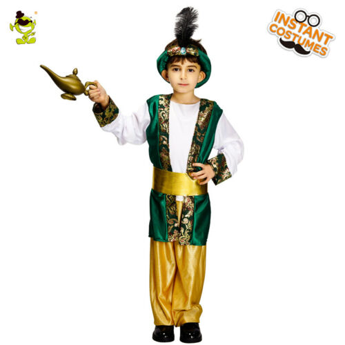 Kids boys/&girls Aladdin Role Play Fancy Costume for Party
