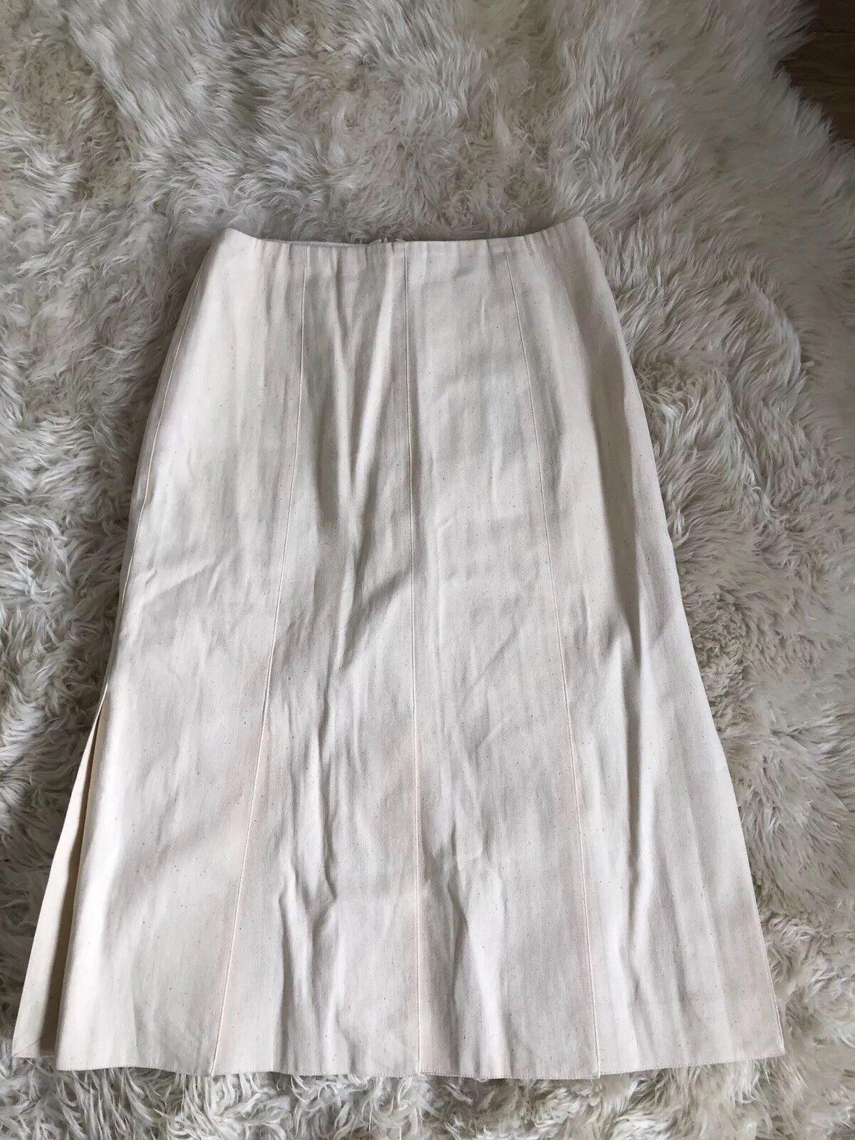 New Jcrew Collection car wash denim skirt in ecru Size 2 F2620 Ivory