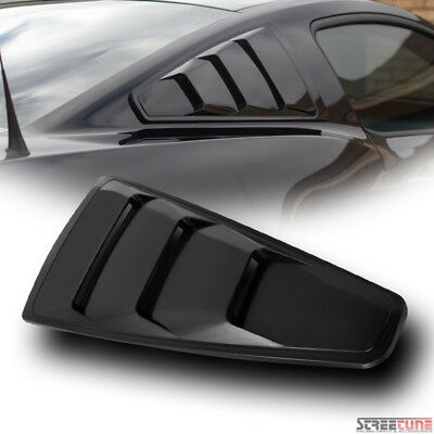 Velocity Concepts Black Gt 5 Vent Style Rear 1//4 Quarter Side Window Louvers V3 05-09 for Mustang
