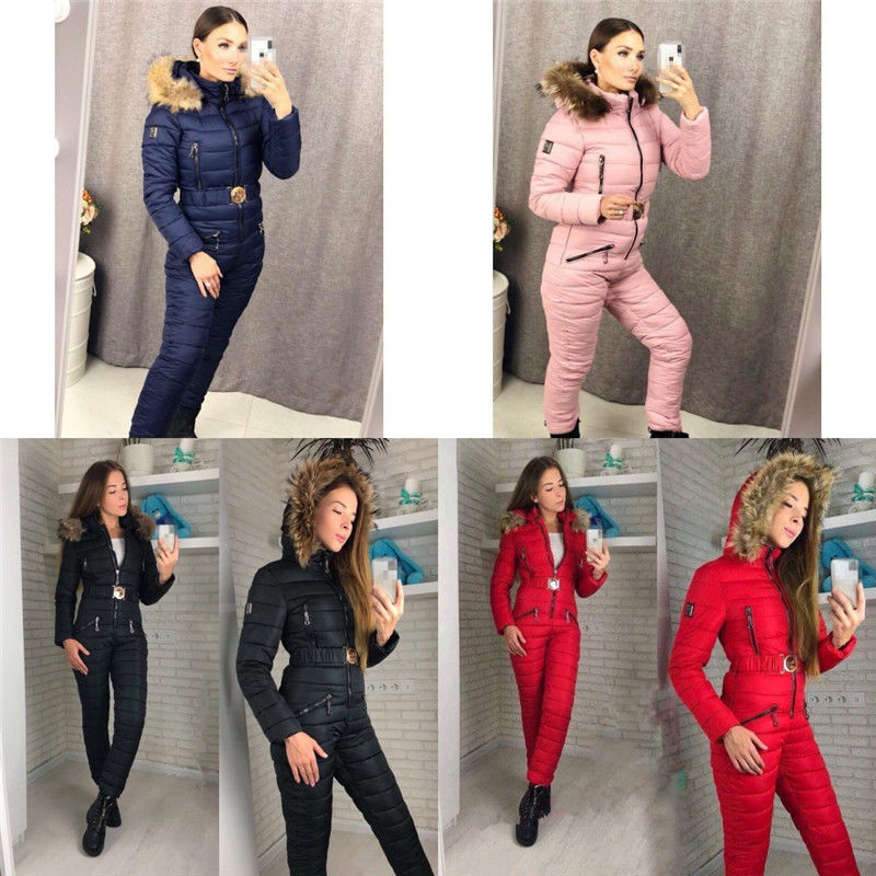 damen Winter Hoodie Jumpsuit Snowboard Clothing Outdoor Sports Ski Snow Suit
