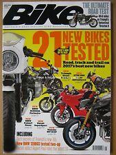 Bike May 2017 Ducati Monster Yamaha MT-09 MT-10 Speed Triple BMW R1200GS X-Adv