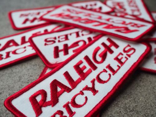 Red And White NOS Raleigh Bicycles Patch Raleigh Cycles
