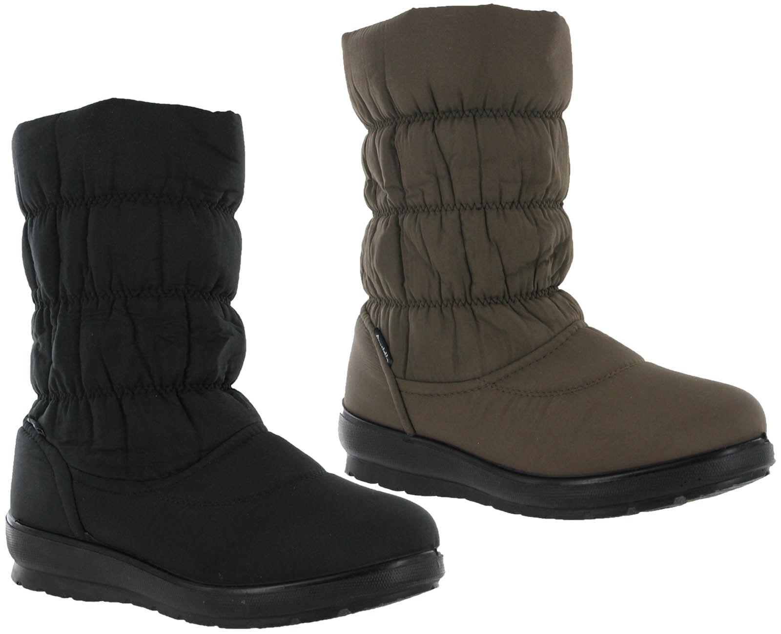Annabelle Winter Fur Lined Janelle Side Zip Lighweight Grip Womens Boots UK4-8