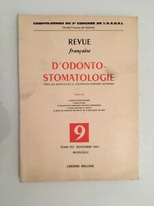 Revista Française De Tomo VIII 9 Librería Maloine 1961
