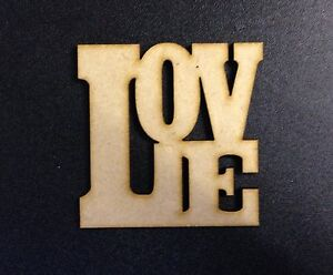 Image Is Loading  X Love Word Plaque Wooden Mdf Approx