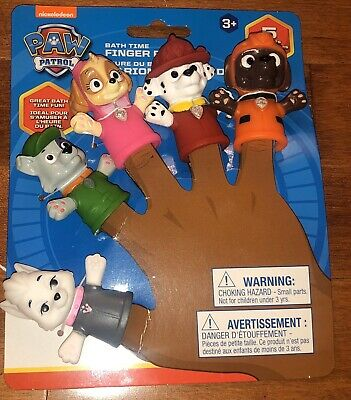 Set of 5 Paw Patrol Finger Puppets Bath Toys New Free Shipping