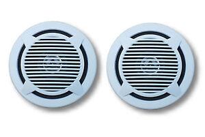 4-034-2-Way-Marinavox-Coaxial-Marine-Speaker-PAIR-VX-138BX2-White-Mech-Grill-NEW
