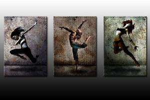 DEKOART BILDER WANDBILD FITNESS LEINWAND BILD 3 x 70cm x 50cm Fitness & Jogging