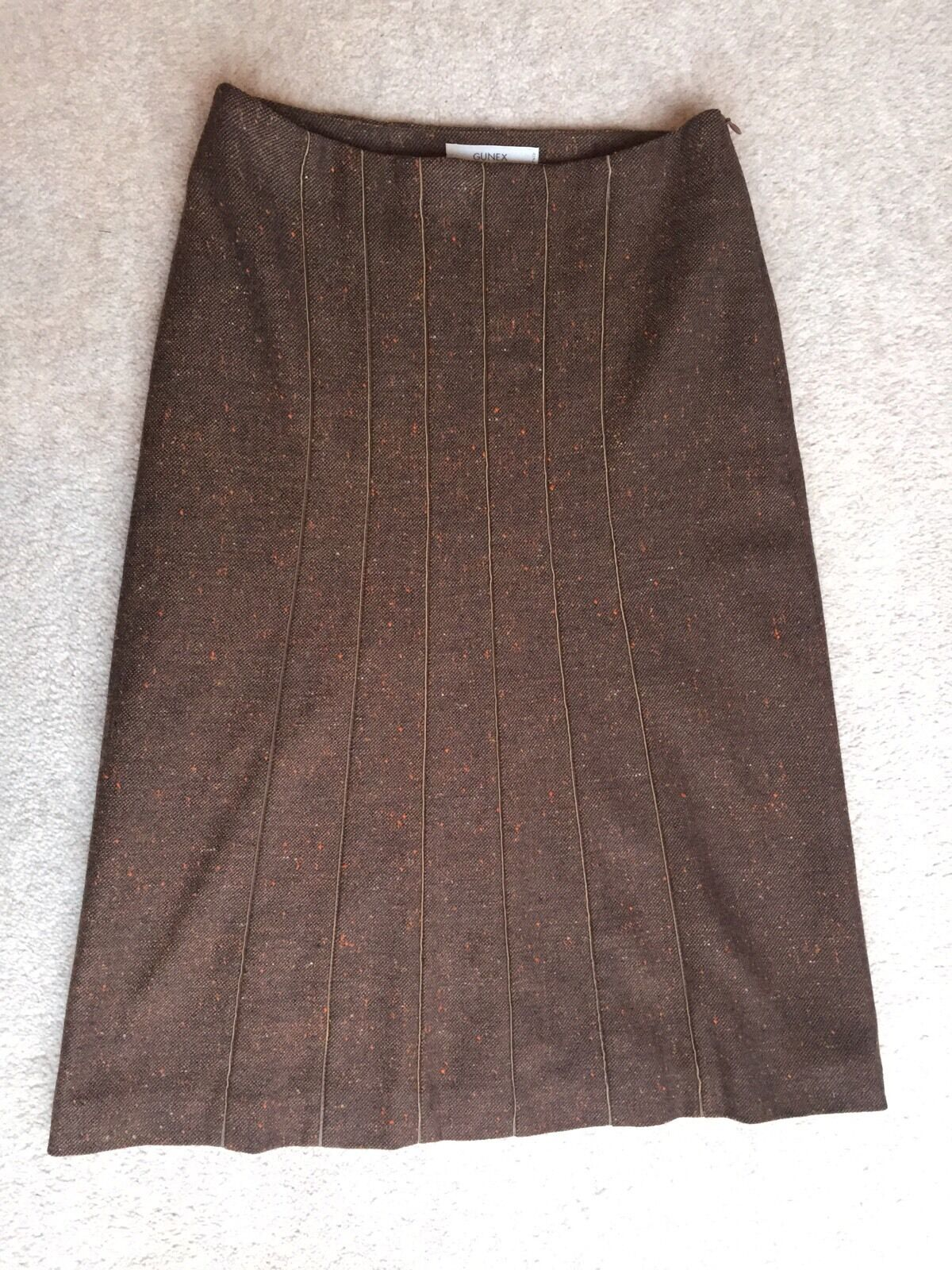 Gunex For Bergdorf Goodman Wool And Cashmere Pencil Skirt Size 6