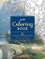 Posh Adult Coloring Book: Thomas Kinkade Designs For Inspiration And Relaxation on sale