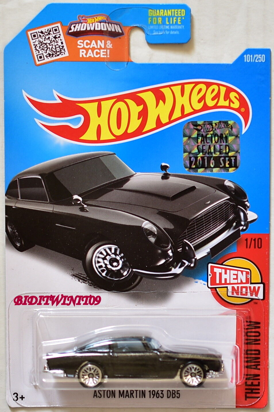 Hot Hot Hot Wheels 2016 Poi And Now Aston Martin 1963 DB5 Nero Sigillato in Fabbrica 66196b