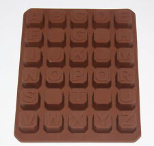 ALPHABET BRICKS NAMES LETTER WORD Chocolate Candy Silicone Bakeware Mould Cake