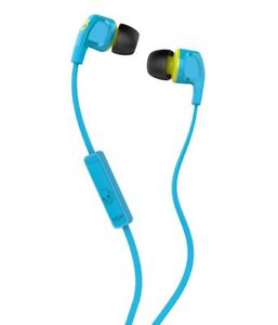 Skullcandy-Smokin-039-Buds-2-with-Mic-Hot-Blue-Lime-Headphone-for-Samsung-iPhone