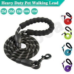 2-3-5-10-15M-Padded-Handle-Dog-Pet-Puppy-Training-Obedience-Recall-Lead-Leash