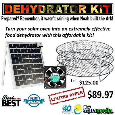 Professional Solar Oven Dehydrator Kit-Fits All Solar Box-type Sun Ovens 20/%off