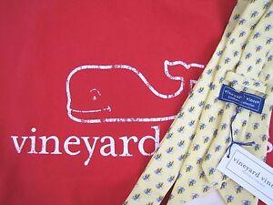 NWT-VINEYARD-VINES-Tie-Yellow-Blue-Equestrian-Saddles-New