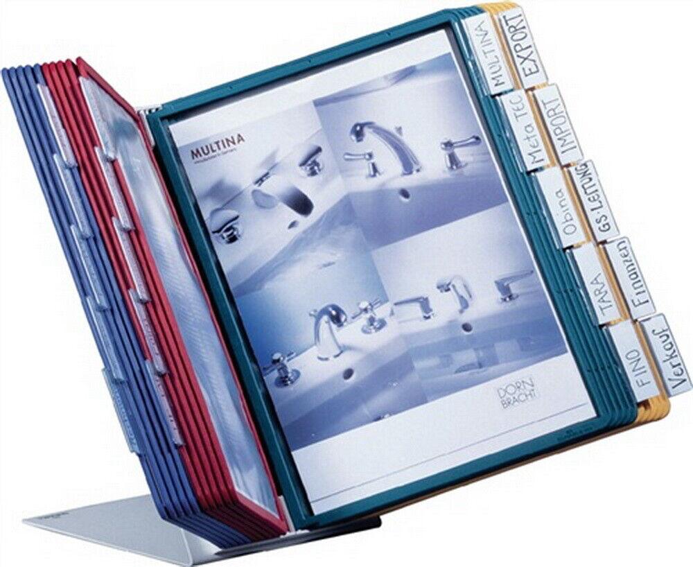 Sichttafeltischständer mit 20Sichttafeln mit Profilrahmen DINA4 Stahlblech | eine breite Palette von Produkten  | Sorgfältig ausgewählte Materialien  | Mittlere Kosten