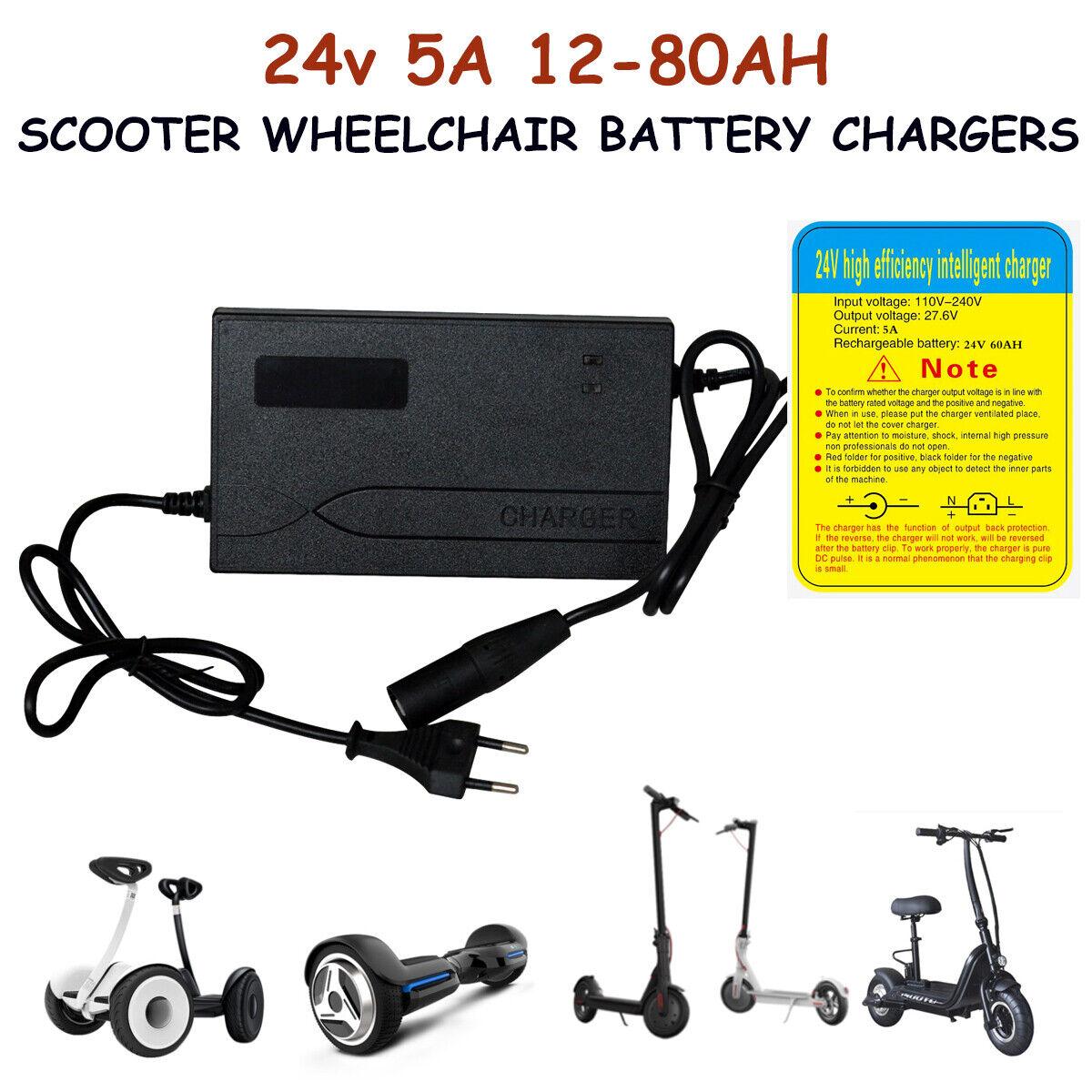 24V vélo électrique scooter mobilité scooter lead acid battery charger