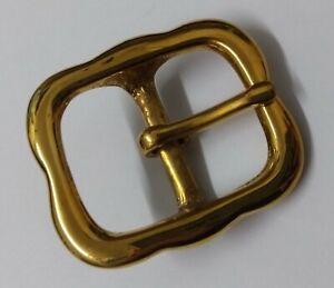 Genuine-British-Army-Horse-Guards-amp-H-Cav-Brass-1-034-Bridle-Crown-Buckle-STD27