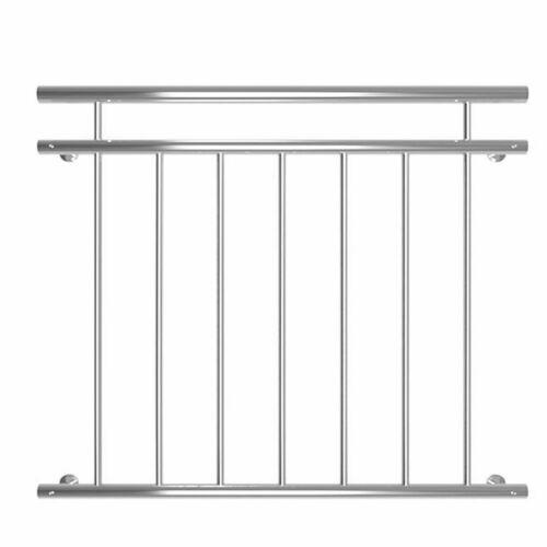 90x100CM Balkongeländer Fenster Geländer Edelstahl Französischer Balkon Gitter