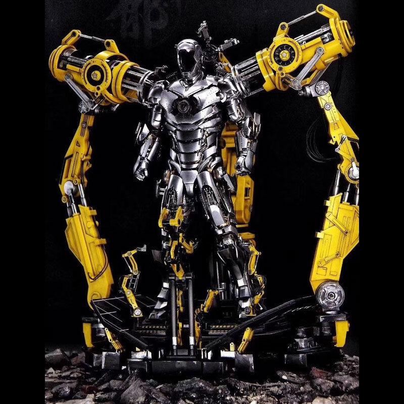 Alloy Iron Man 1 6 KO Suit Up Gantry Remote Control Light No Iron Man Figure Toy