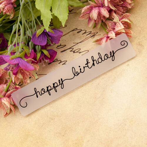happy birthday Embossing folders Plastic Embossing Folder For Scrapbooking caFEH
