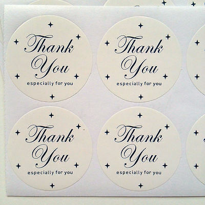48x Thank You Especially For You Round Stickers