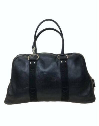 Dior Hardcore Black Leather Shoulder Bag