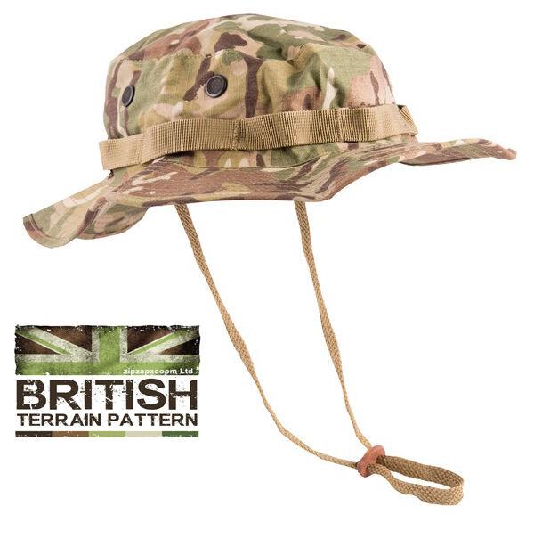 US & British Army Military Jungle Boonie Sun Bush Hat Surplus Combat BTP Camo