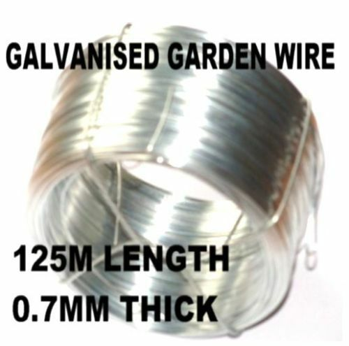 10 x  ROLLs OF ZINC COATED GALVANISED GARDEN WIRE 125m x 0.7mm