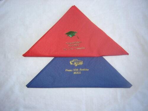Personnalisé Papier Serviettes 100 Qualité 3PLY Dîner taille 39 cm