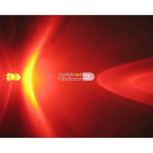 """rot LED superhell Leuchtdiode 100 LEDs 5mm rot wasserklar Typ /""""WTN-5-6000r/"""""""