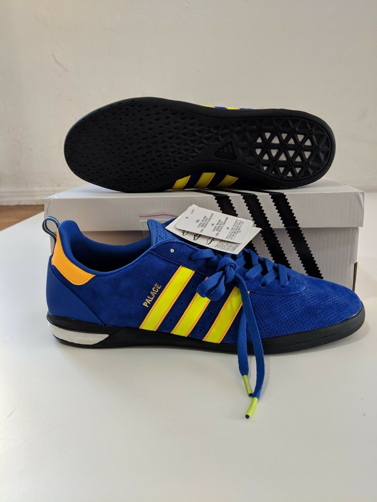 Palace x adidas Indoor Size 10.5BOLD blueE, SOLAR YELLOW & gold