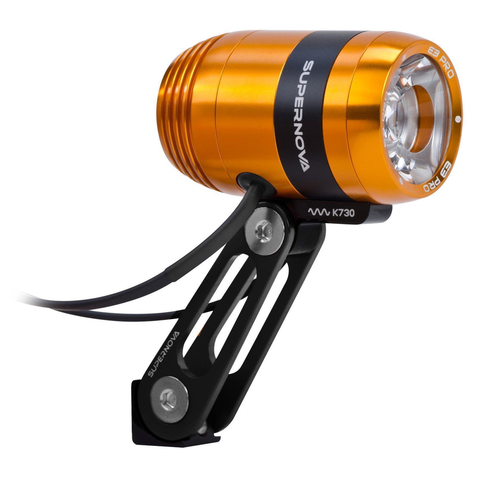 súpernova E3 Pro 2 LED Dynamo Lámpara de Bicicleta Naranja 205 Lumen Sparking 6V 3W AC