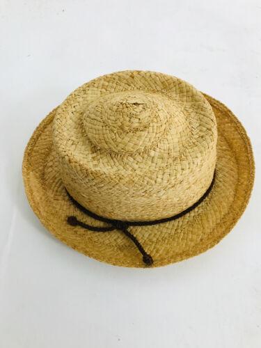 1950s Pork Pie Hat Made in Italy Straw Hat Bucket