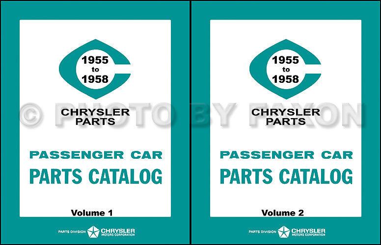 1955 1956 1957 1958 MoPar Parts Book Catalog Dodge Car Plymouth Chrysler DeSoto