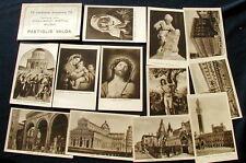 Set pubblicitario completo 12 cartoline artistiche PASTIGLIE VALDA Milano