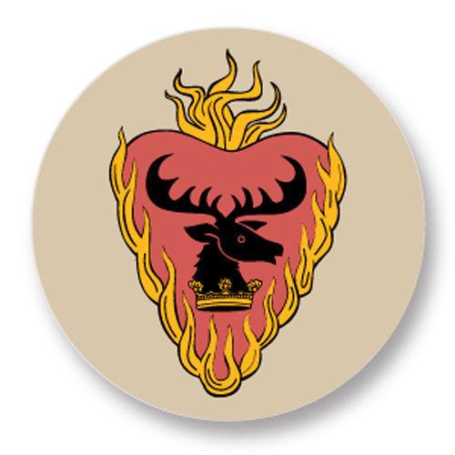 Magnet Aimant Frigo Ø38mm Game Of Thrones Trône de fer House Stannis Baratheon