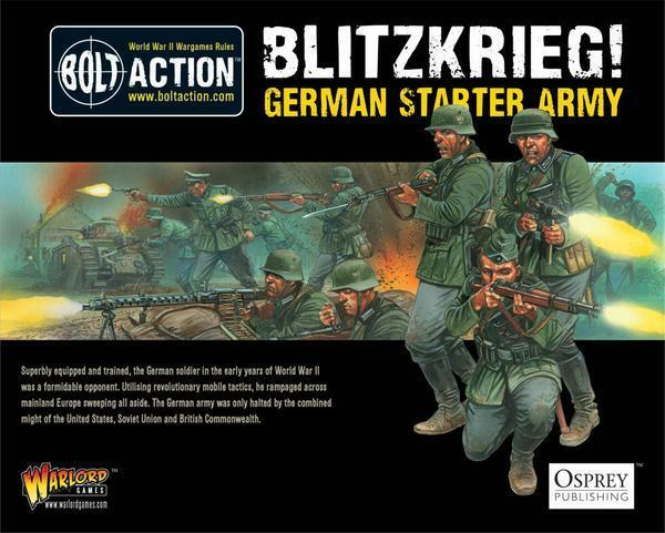 1000PT BLITZKRIEG  GERMAN ARMY STARTER - BOLT ACTION - WARLORD GAMES - WWII 28MM