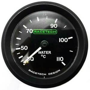 Racetech-52mm-Water-Temperature-Gauge-Mechanical-Backlit-With-12ft-Capilary