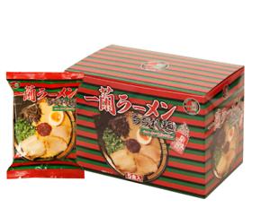 Ichiran-RAMEN-tonkotsu-ricci-di-spaghetti-con-salsa-rossa-a-secco-5-Pasti-1-Scatola