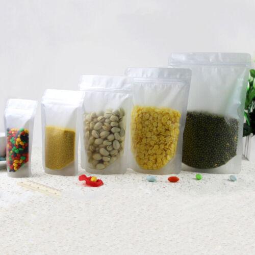 10pcs Zip Lock Essen Packung Self seal Stehen Tasche Kunststoff Pfund Resealable