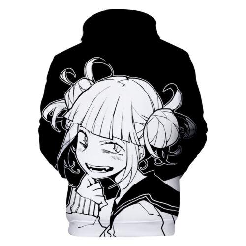 My Hero Academia Himiko Toga Hoodie Pullover Cosplay Sweatshirt Jacket Black