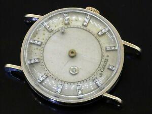 Vacheron Constantin LeCoultre vintage 14K WG VS diamond mystery dial men's watch