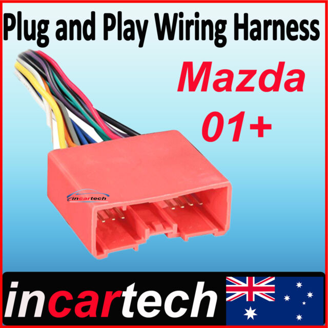 Aftermarket Radio Wire Harness Stereo Connect Wiring Fit MAZDA 2 3 6 ...