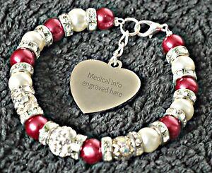 Image Is Loading Medical Alert Bracelet Alzheimer S Dementia Memory Impairment