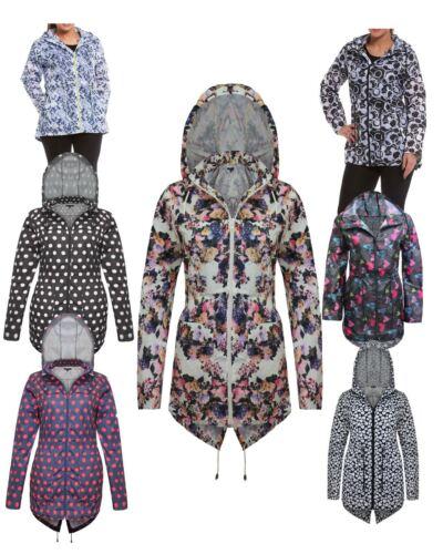 Womens Ladies Rain mac Raincoat Rain Coat Kagool Kagoul Parka Fishtail Jacket